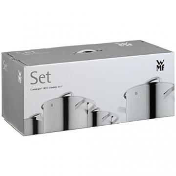 Silit Topf-Set 5-teilig Toskana Schüttrand Glasdeckel Edelstahl teilmattiert induktionsgeeignet spülmaschinengeeignet -