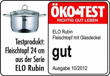 ELO Kochtopf Rubin Set Rubin 5-teilig Edelstahl 18/10 -