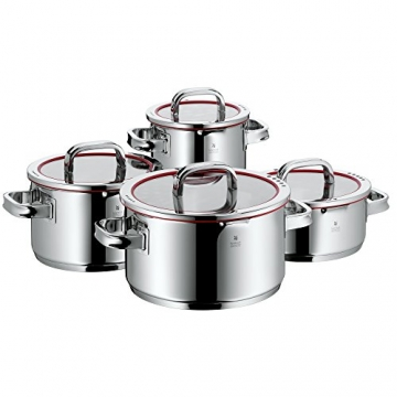 WMF Topf-Set 4-teilig Function 4, Cromargan®, Edelstahl poliert, induktionsgeeignet, spülmaschinengeeignet -