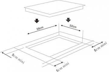 Maße für der Induktionsplatte