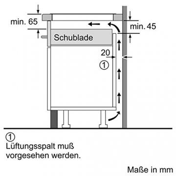 Höhenangaben Siemens Herdplatte Induktion