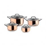 Kupfer Topfset Claire 3-Schicht Edelstahl  (4 Töpfe) von Springlane Kitchen