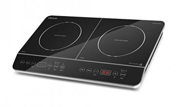ELLRONA Ergo Touch 3500 mobiles Doppel-Induktionskochplatte
