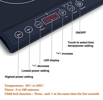 aobosi doppel induktionskochplatte 3500w test ratgeber auf. Black Bedroom Furniture Sets. Home Design Ideas
